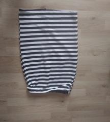 prugasta suknja nova, vel. M