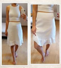 Bijeli šos/suknja - NEW YORKER, vel. M/38