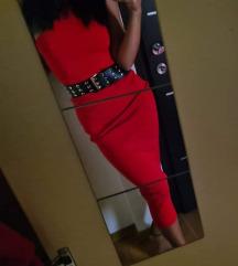Zara crvena haljina XS
