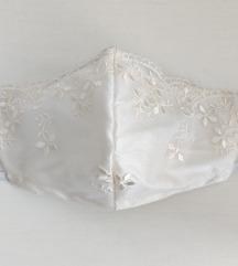 👰 Maska šantung svila i luksuzna čipka 💒