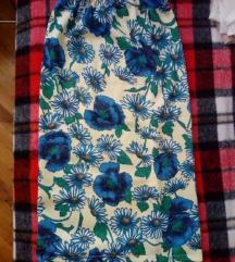 Cvjetna suknja do ispod koljena