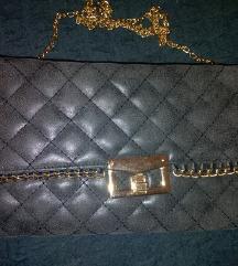 AKCIJA nova sivo zlatna veća torbica novčanik