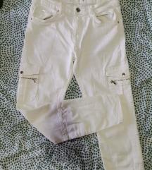 Bijele uske cargo hlače