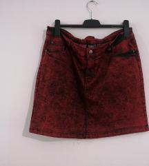 Crveno crna suknja