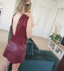 Zara bordo crvena svečana haljina