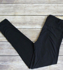 H&M seamless crne tajice / visoki struk