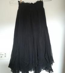 Nafnaf suknja crna sa volanima