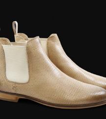 Kožne kratke čizme od prave kože dizajnerske