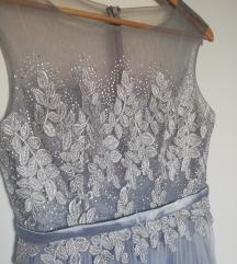 Večernja haljina srebrna