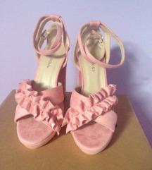 Glamorous roze štikle sandale 36