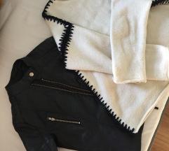 Lot kožna jakna+ZARA pulover