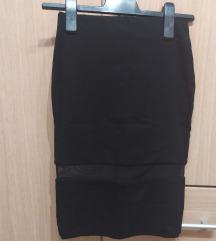 Zara crna uska suknja