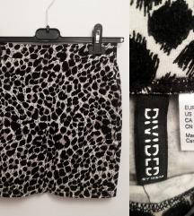 pencil leopard suknja