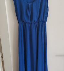 Plava haljina bez rukava
