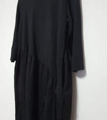 Nova pamučna asimetrična haljina s džepovima L-XL