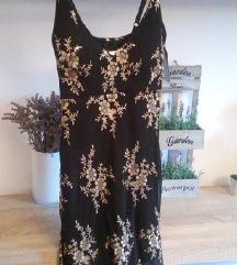 SNIŽENO Crna haljinica sa zlatnim detaljima *novo*