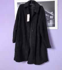 Zara crna bunda čupava teddy M 38