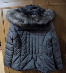 New Look puffer siva jakna