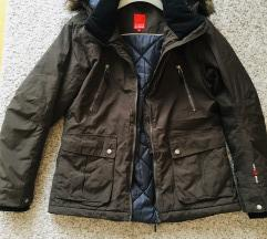 Maslinasta zimska jakna s kapuljačom vel M-L 40