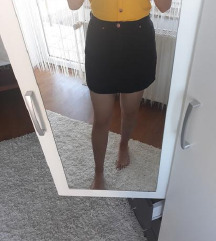 Mini crna suknja H&M