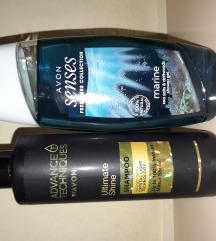 Šampon za sjaj kose/marine gel za t.