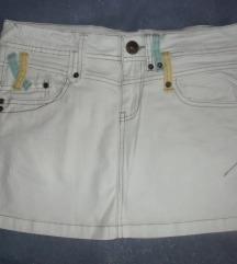 Bijela traper mini suknja 152-158 (odrasli XS)