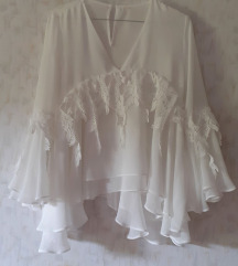 Svečana bijela bluza - sniženo!