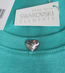 Majica sa swarovski srcem 40