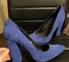 kožne Roccobarocco plave royal blue salonke 40