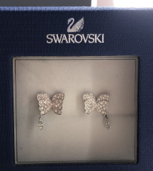 Swarovski leptir nausnice