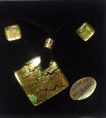MURANO GLASS Venezia - ogrlica i naušnice