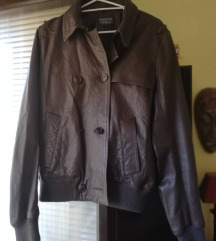 RALPH LAUREN, kožna, t.smeđa, ženska jakna, L