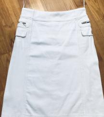 MANGO samt suknja+blejzer sa velikim đepovima XS