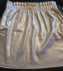 ZARA metalik zlatna suknja
