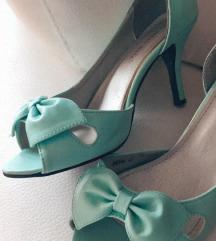 Tirkizne cipele na petu (štiklice)