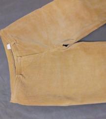 Bež samt hlače s elastinom