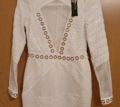 Asos Boohoo  bijela nova haljina nikad nošena!