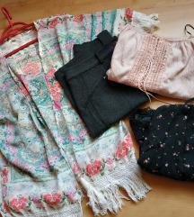 Lot odjece S - romper, crop top, vesta,suknja