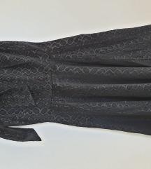 Crna barsunasta haljina na leopard uzorak