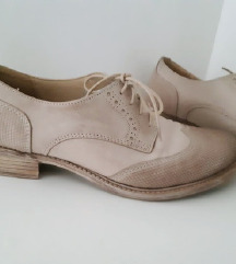 Krem, bež cipele - prava koža