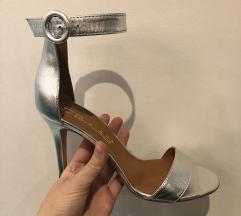 SNIZ Via Roma sandale srebrne