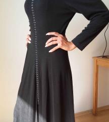 dugačka, crna haljina, br. 38