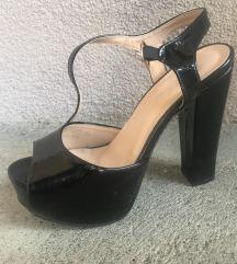 Visoke crne sandale