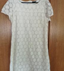 Bijela čipkasta haljina 44
