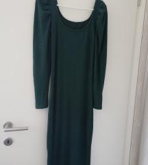 Midi maslinasta haljina M-XL