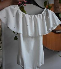Bijela bodi bluza