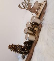 Drveni adventski vijenac