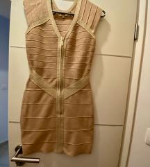Zlatna haljina like Herve Leger