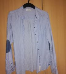 H&M prugasta košulja sa zakrpama