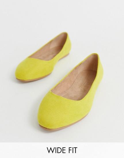 Asos žute balerinke (wide fit)